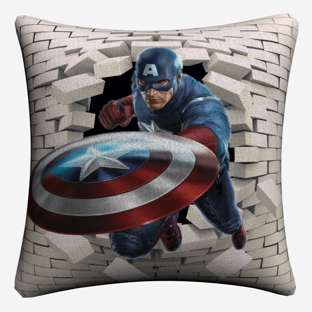 Avengers Superheroes 3D Breaking Wall Decorative Linen Cushion Cover 45x45cm Pillowcase For Sofa Home Decor Pillow Case Almofada in Cushion Cover from Home Garden