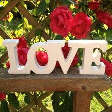 Лучший!  Деревянное Письмо Свадебные Украшения ЛЮБОВЬ Mariage Декор День Рождения Прием Белые Буквы Свадебный