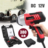 12V 1/2 Inch Electric Impact Wrench Li ion Battery LED Light Professional Corded Power Wrench Home DIY Car Power Tools 380N.M