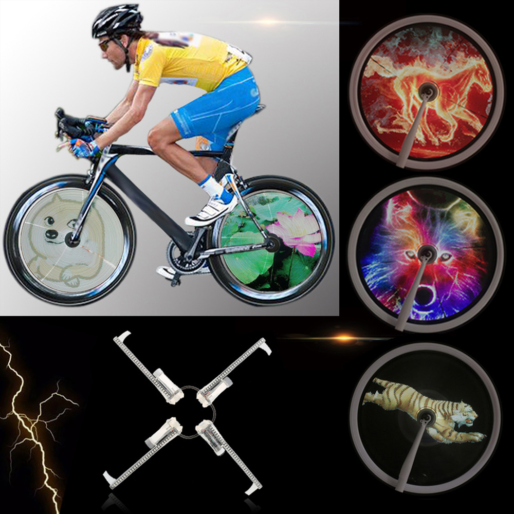 256/416pcs LED DIY Bicycle Lights Colorful Bike Spoke Wheel Light Motor MTB Display Hub Programmable Light Lamp For Night Riding-in Bicycle Light from Sports & Entertainment    1