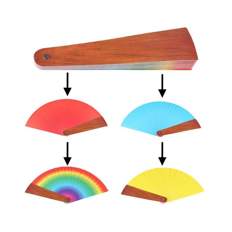 Quatre couleurs ventilateur magique changement de couleur stade de ventilateur gros plan accessoires magiques jouets drôles accessoires de Performance magique nouveauté drôle - 4