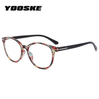3fce4246ff YOOSKE marca gafas de lectura irrompibles los hombres y las mujeres de  resina gafas transparente gafas Vintage redondo lectura gafas