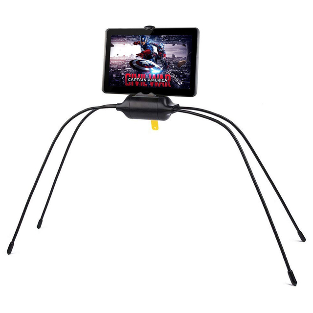 Black Color ABS Material Flexible Tablet Holder For Bed Newest Adjustable Stand For iPad Tablet and Cell Phone soporte tablet 1