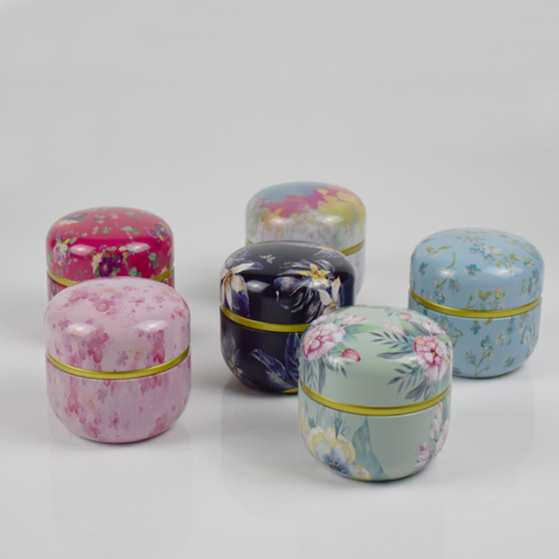 Tea Jar Multifunction Mini Storage Boxes Tea Caddies With Lid Matcha Container Chinese Style Caddy Coffee Powder Cans