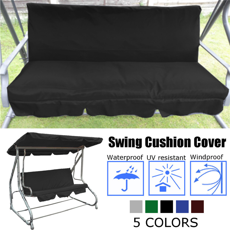 150CM 3 Seater Garden Swing Cushion 5 Colors Waterproof Dustproof Chair Replacement Canopy Spare Fabric Cover Dust Covers150CM 3 Seater Garden Swing Cushion 5 Colors Waterproof Dustproof Chair Replacement Canopy Spare Fabric Cover Dust Covers