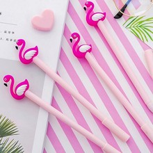Flamingo Shape Gel Pen Black Ink Color High Quality School Student Stationery And Office Supplies Pen1PCS