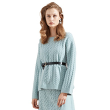 2018 Autumn Winter New arrival Knitting pullover Sweater Woman lace up Fashion Rendering knitting sweater women for winter 8220