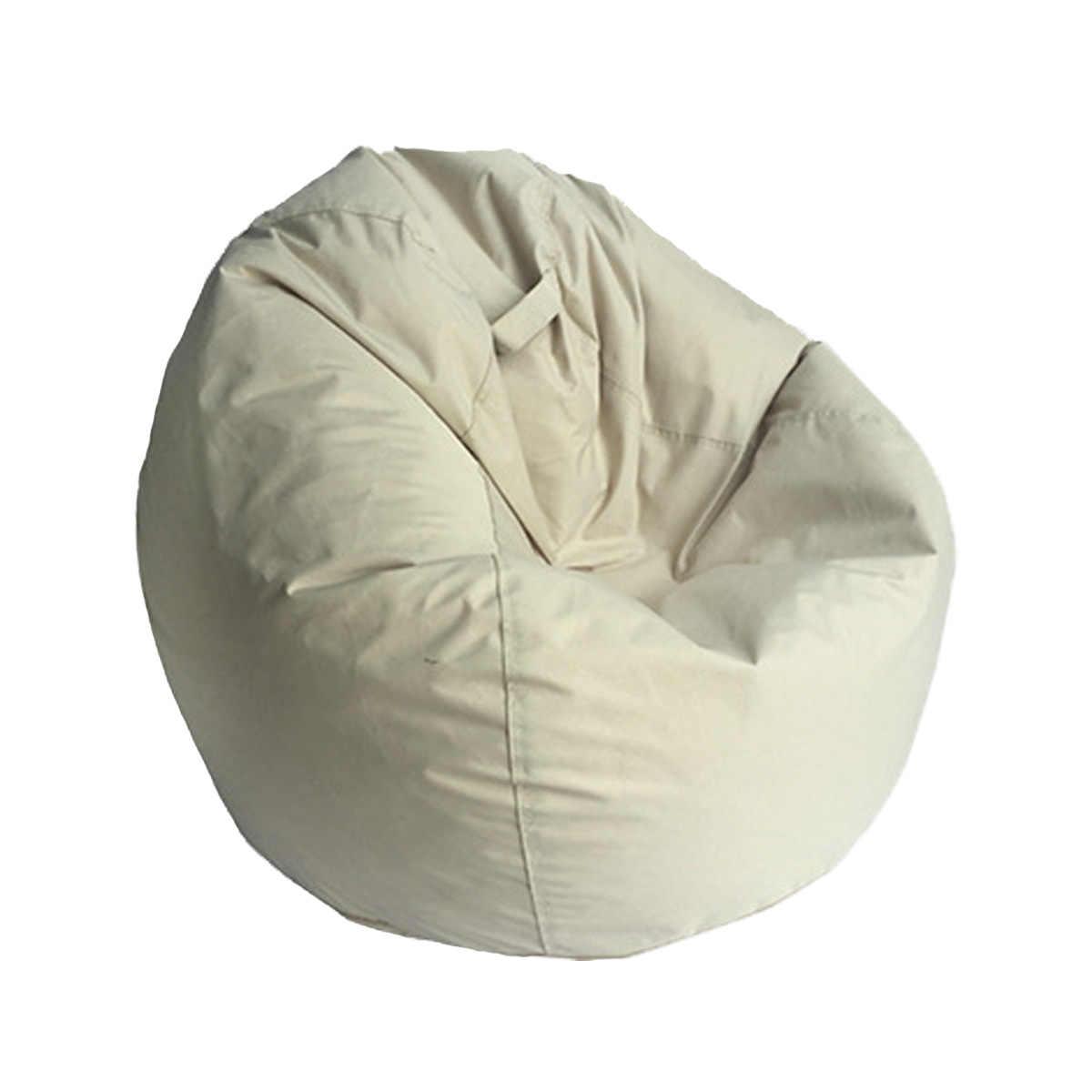 Tampa do Saco de feijão Sofá Cadeira Espreguiçadeira Sofá Assento Otomano Sofá Mobília Da Sala de Cama Sem Enchimento Beanbag Pouf Puff Tatam