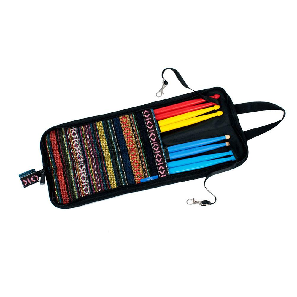 Folk National Style Colorful Drumsticks Case Cotton Drum Stick Bag with Handle Strap Percussion Instruments Parts Accessories