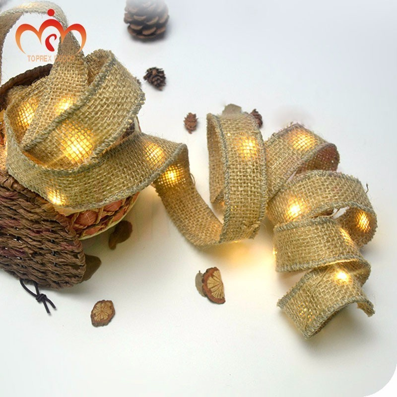 Toprex LED linen copper string DIY home decoration batteries CR2032 Button cell operated christmas tree light in LED String from Lights Lighting