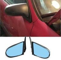 SPN Style Side Mirrors ABS Black (Manual) Fits 1992 1996 EG 1996 2000EX Honda Civic 4dr (Fits: Honda Civic)