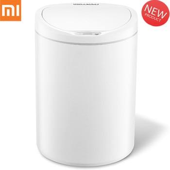 Oryginalny Xiaomi 10L indukcyjne typu kosza inteligentny czujnik strona główna łazienka inteligentny kosz na śmieci kosz na śmieci od Xiaomi youpin
