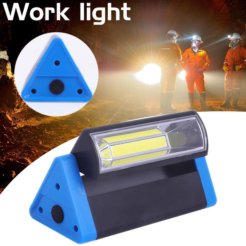 Triangle COB Work Light Strong Magnet Camping Lamp With Hook 180 Degrees Rotating Emergency Lighting Lamp
