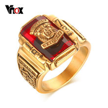 Vnox Vintage Male Ring for Men Jewelry 1973 Walton Tiger High School Stainless Steel Metal(China)