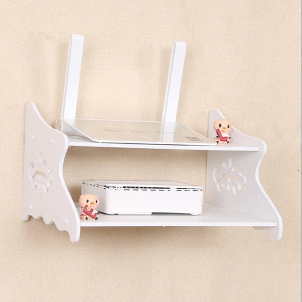 Wand Regale Doppel-deck Tv Set-top Box Fernbedienung Lagerung Box Wand Router Lagerung Box Punch-freies Tv Set-top Box