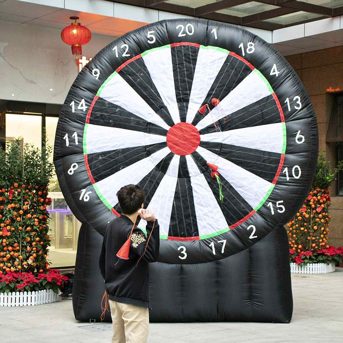 4 Meter Giant Inflatable Dart Board With Air Blower 220V Outdoor Durable Game Oxford Fabric Throwing Sport Games Inflatable Toys