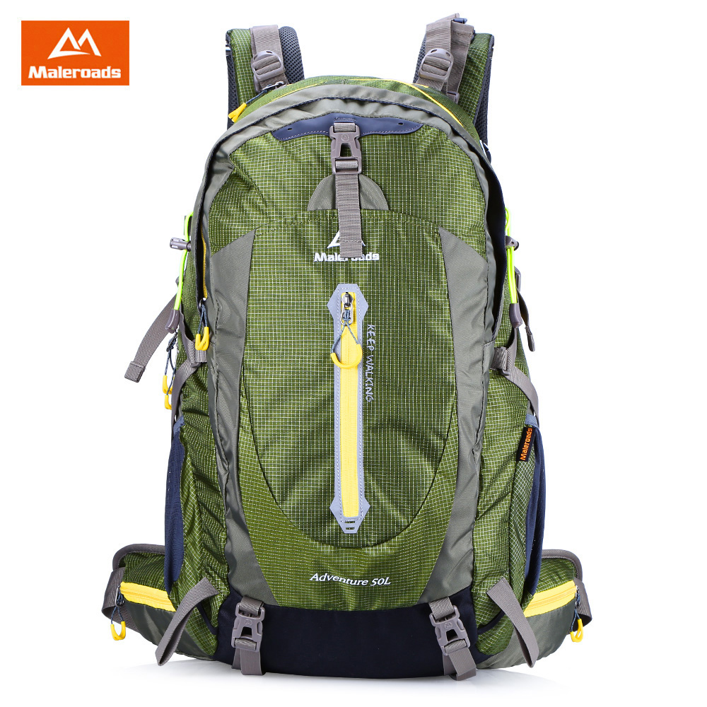 Sac à dos de Sports de plein air Maleroads 50L randonnée Camping sac à dos de vélo en Nylon résistant à l'eau 6 couleurs