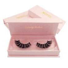 SHIDISHANGPIN individual lashes 1 pair 3d mink eyelashes makeup extension cilios maquillaje volume eyelash