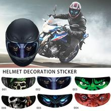 Helmet Decoration Sticker Detachable Motorcycle Racing Lens Visor Personality Film Translucent Decal
