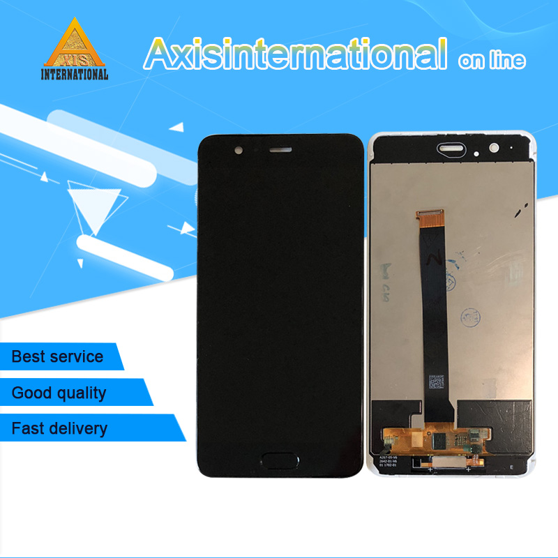 Axisinternational For 5 5 Huawei P10 Plus LCD Display Screen Touch Digitizer Frame Fingerprint VKY L09