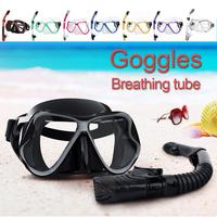 Hot Sale Snorkel Set Panoramic Wide View Anti Fog Scuba Diving Mask Dry Top Snorkel for Swimming Snorkeling