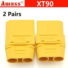"""4 шт./лот Amass XT90 набор разъемов для аккумулятора 4,5 мм Мужской Женский позолоченный штекер типа """"банан""""(2 пары) для аккумулятора модели RC"""