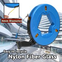 45m/60m/70m ABS Plastic Cable Puller Fish Tape Blue Cable Fiberglass Fish Tape Reel Puller Nylon Metal Wall Wire Conduit