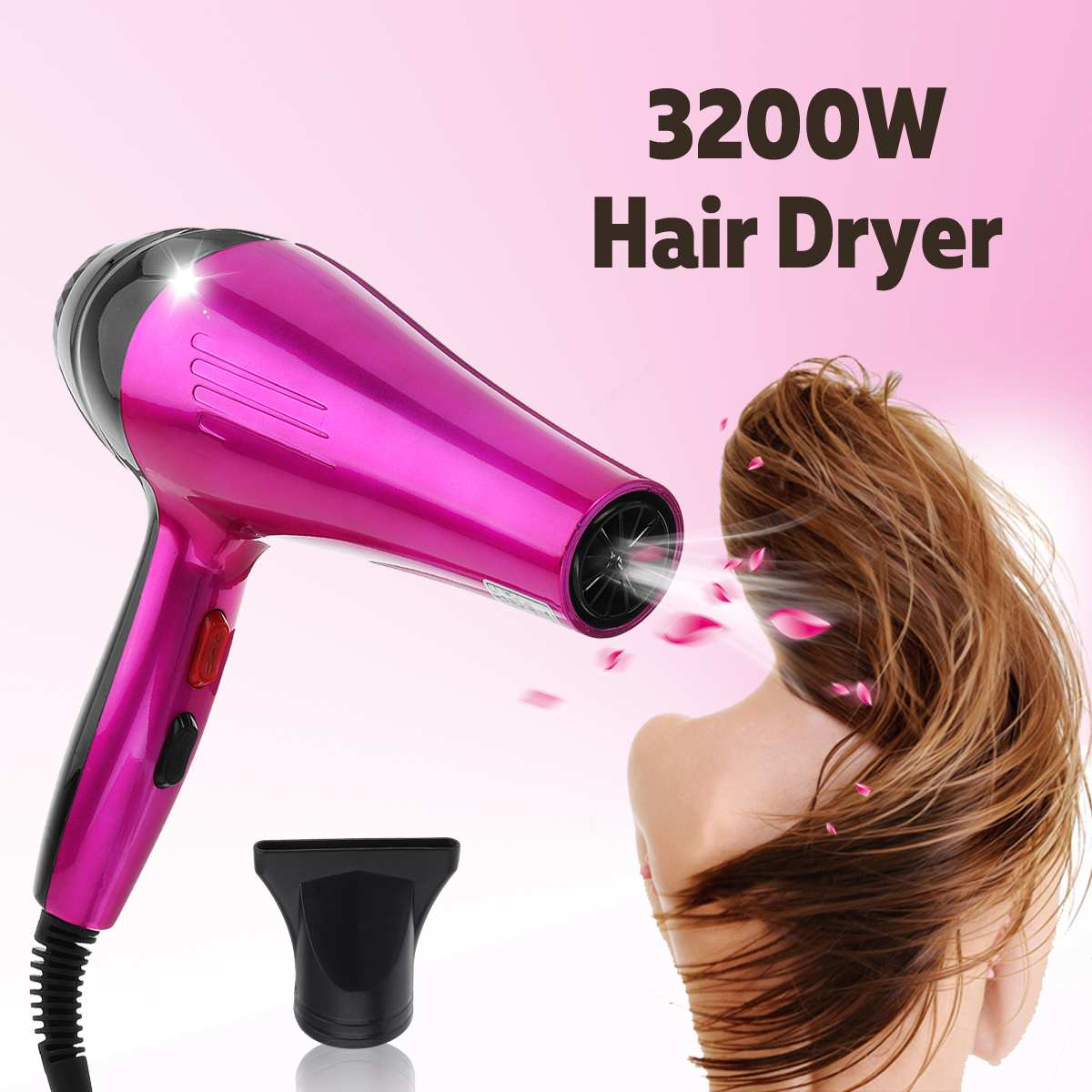 3200W 4 Modes Cold/Hot Air Hair Dryers Professional Powerful Hair Dryer Anion Hair Dryer Power Hair Accessories 220V