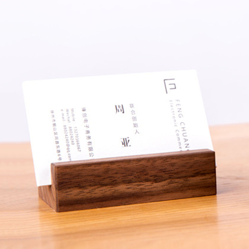Card Holder Craft Stand Business Wooden Dinner Party Display Numbers Photo Desk Organizer Decoration Name Memo Clips Office