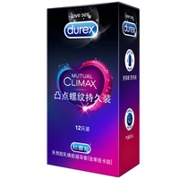 Durex New Hot 12Pcs Condom Supremes Brace Thread Durable Packing Condom Length 195Mm Width 56Mm Containing Benzocaine Emulsion