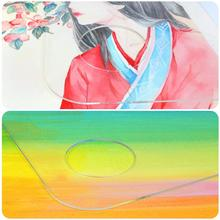 Acrylic Oval Palette Unique Transparent For Water Color Acrylic Makeup Palette Watercolor Oil Painting Art Supply 1piece oval oil painting palette 30 40cm 40 50cm wooden walnut oil acrylic painting drawing palette artist supplies