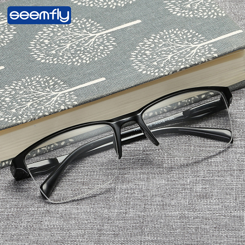Seemfly Fashion Comfortable Resin Reading Glasses Brand Design Classical Presbyopia Ultralight Man Women High Quality Glasses