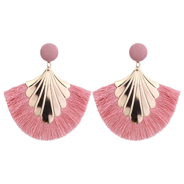 Bohemian big Fringe Tassel earings for women