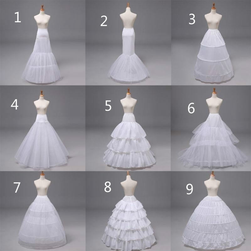 New Petticoat Underskirt Dress Underdress Hoop Skirt Rings Wedding Dress White