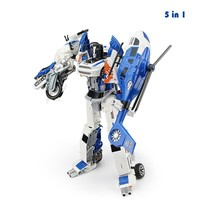 Alloy Deformation God Of War Movie Animation Task Model Auto Salon Girls Type Five In One Boy Children's Toys Fit Robot Toys