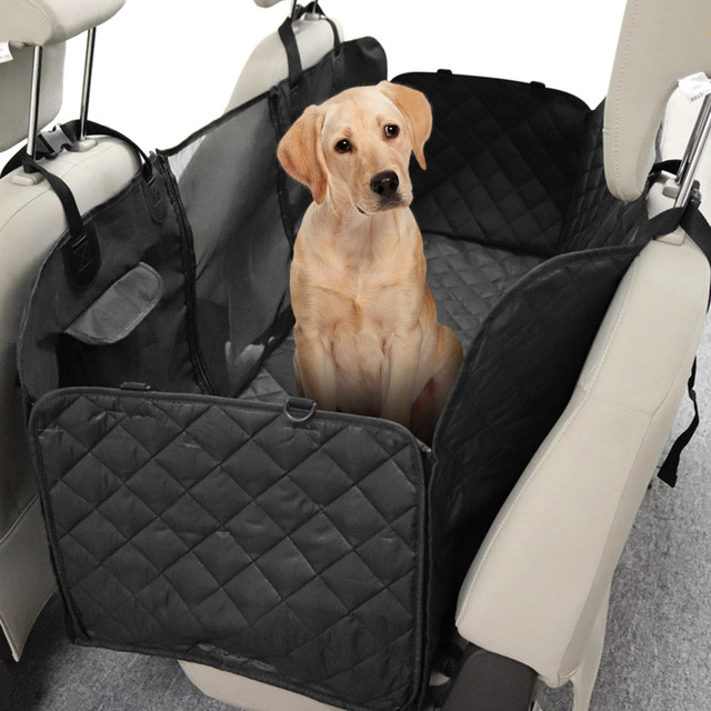 Car Seat Cover For Pet Rear Hammock Dog With Mesh Window Backseat