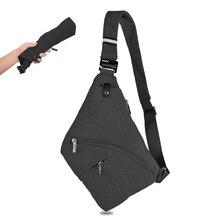 b05833c6ca9d Для мужчин Анти-Вор безопасности груди мешок тактический пистолет сумка  кобура мужской отдел Креста тела