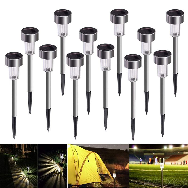 solar lamp garden lamp LED solar lamp 12 pieces energy saving IP65 waterproof stainless steel Perfect for patio, lawn, garden solar lamp garden lamp LED solar lamp 12 pieces energy saving IP65 waterproof stainless steel Perfect for patio, lawn, garden