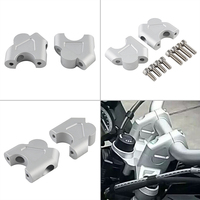 High Quality Motorcycle Handlebar Risers Mount Extend For BMW R1200GS Aluminum Silver Motorcycle Handlebar Riser Set