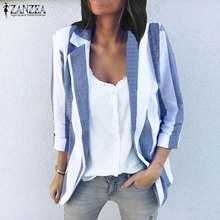 8784e2956c Popular Plus Size Womens Striped Blazer-Buy Cheap Plus Size Womens ...