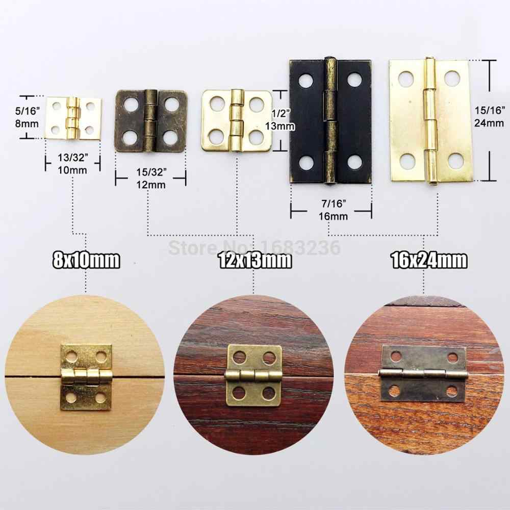 Vintage Jewelry Box Door Hinges Furniture Cabinet Drawer Dollhouse Decorative