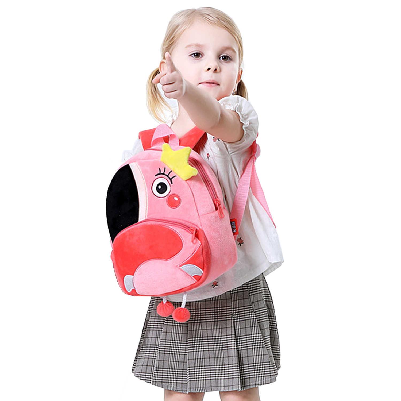 Детские милые Kawaii мягкие Мультяшные животные Божья коровка/Зебра/Фламинго мини плюшевый рюкзак Детский сад школьная сумка игрушка