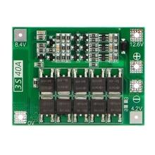 3S 40A 18650 литий-ионная батарея зарядное устройство Защитная плата Pcb Bms для сверлильного двигателя 11,1 В 12,6 в Lipo ячеечный модуль