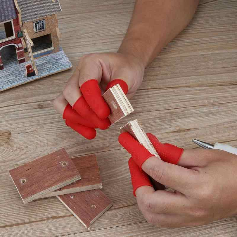 Finger Caps 3/5pcs Finger Protector for High Temperature Resistant Anti-slip Hot Glue Gun Finger Caps Silicone Finger Cover