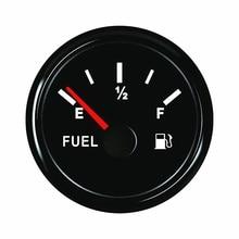 52mm 12V Fuel Level Gauge Car Meter White LED Light Black Rim Automotive Gauges For Car Marine Boat цена и фото