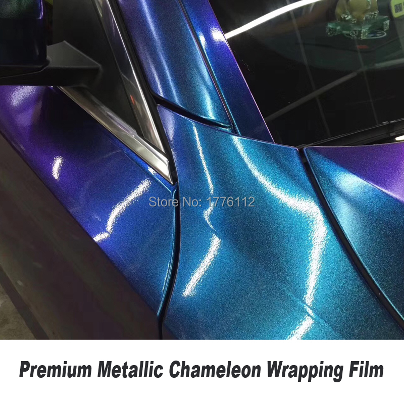 Premium sparkle Pearl Chameleon Gloss metallic Vinyl For Car WRAP COVER diamond shiny cast foil car sticker Size 1.52*20M/Roll