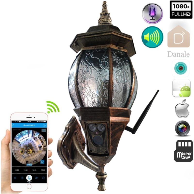 Retro Outdoor Lighting with Surveillance  Cameras IP Camera Wall Lamps Porch Lights  Lantern Waterproof  Camera CCTV