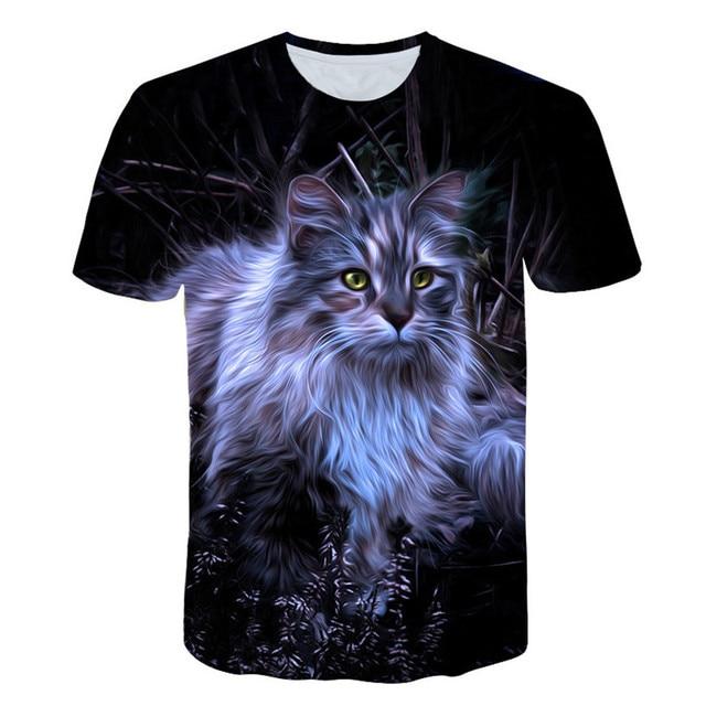 Cats 3D Printed T-shirt Women Men tshirt short Sleeve Casual Men's Fashion High Quality Clothing tees Tops Free shipping XXS-4XL 8