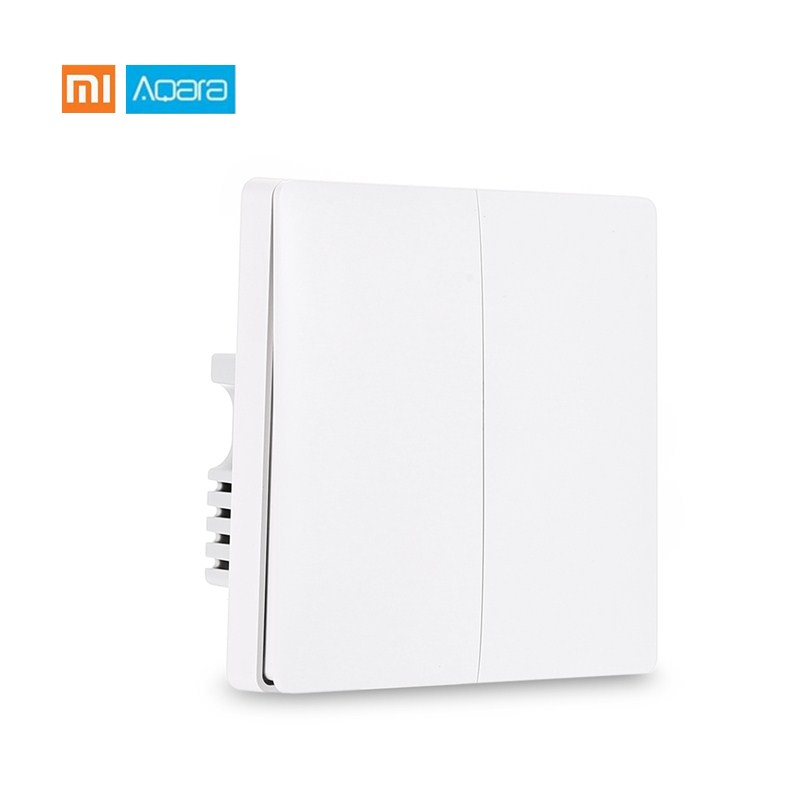 Original Xiaomi Aqara Smart Light Control Fire Wire Zero Line ZiGBee Wall Switch versión doble llave única Mijia APP Control