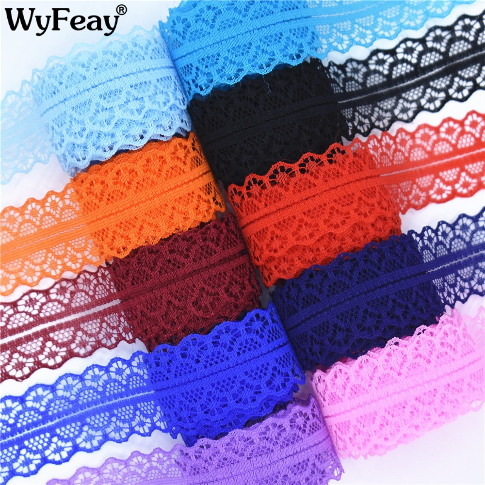 High quality 10 yards Lace Ribbon Tape Width 28MM Trim Fabric DIY Embroidered Net Cord For Sewing Decoration african lace fabric(China)